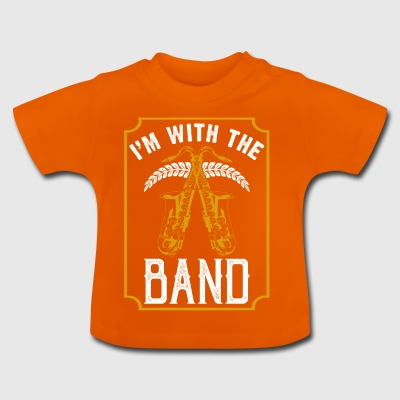 In with the Band instrument van de saxofoon - Baby T-shirt