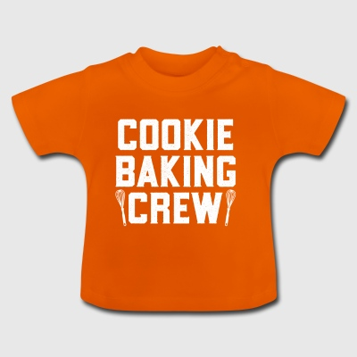 Cookie Baking Crew Funny Christmas Lazy Costume - Baby-T-shirt