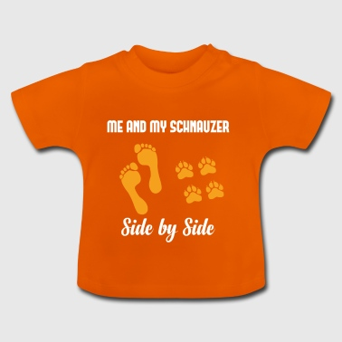 ME AND MY SIDE BY SIDE SCHNAUZER - T-shirt Bébé