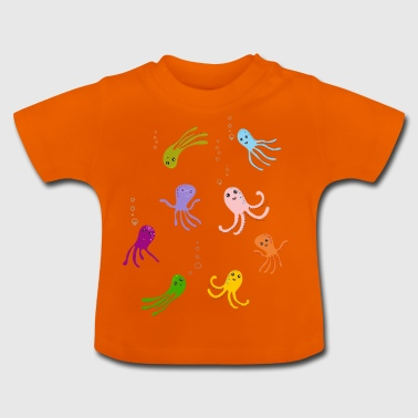 octopus play children water tentacle funny funny - Baby T-Shirt