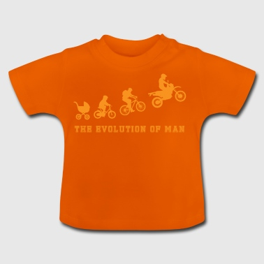 Evolution - Motocross - Motorsport - Geschenk - Baby T-Shirt