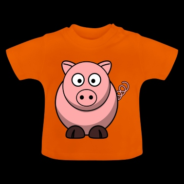 Schwein Cartoon - Camiseta bebé