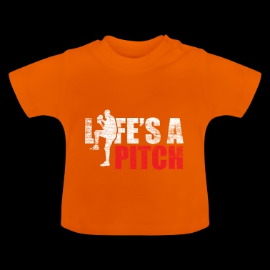 Life is a pitch pitcher baseball gift - Baby T-Shirt