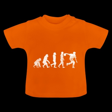 evolution bowling strike geschenk - Baby T-Shirt