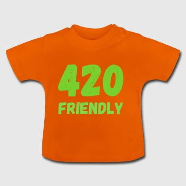 420 Friendly - Grass Ween Kiffen hampa Gift - Baby-T-shirt