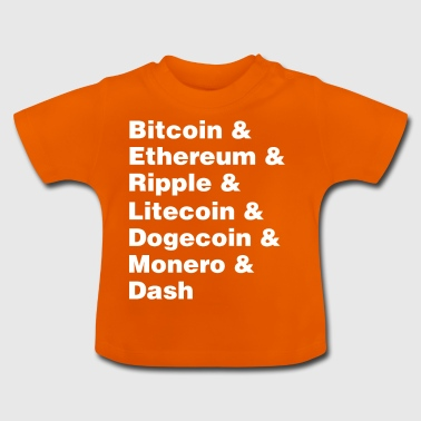 Bitcoin & Ethereum & Ripple Cryptocurrency Mønter - Baby T-shirt