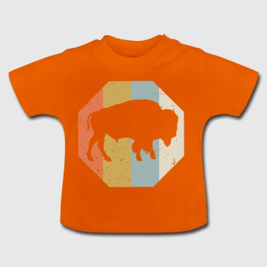 Bison sauvage buffle Indien occidental Vintage - T-shirt Bébé