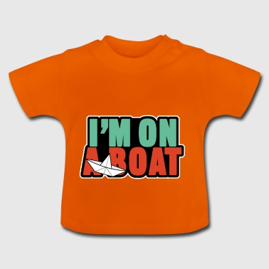 in op een boot - Baby T-shirt