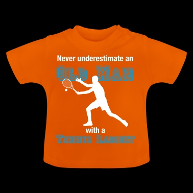 Old tennis player T-shirt tennis oldie farewell - Baby T-Shirt