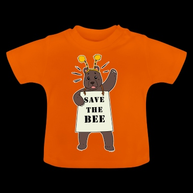Bear Activist Save the Bees Honey Save the bee - Baby T-Shirt
