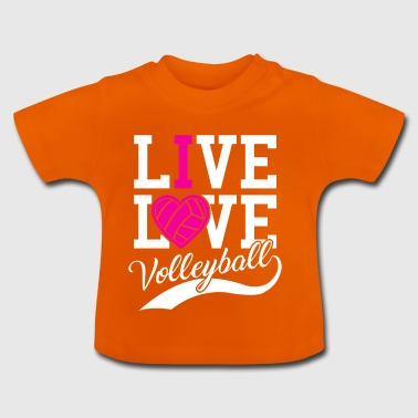 Live liefdesvolleybal - Baby T-shirt