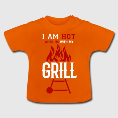 Je suis chaud avec mon barbecue barbecue barbecue Brater - T-shirt Bébé