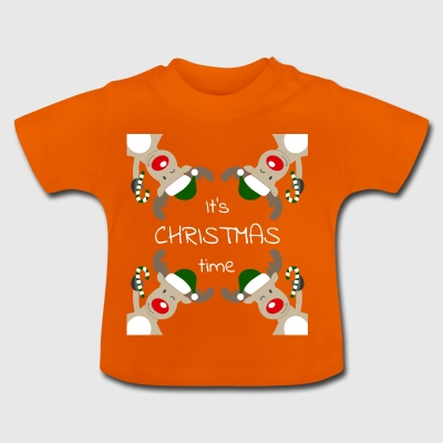 It's Christmas Time rot - Baby T-Shirt