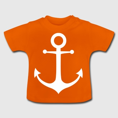 blanco ANCHOR - Camiseta bebé
