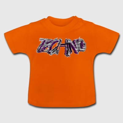lettrage Techno 3D 003 - T-shirt Bébé