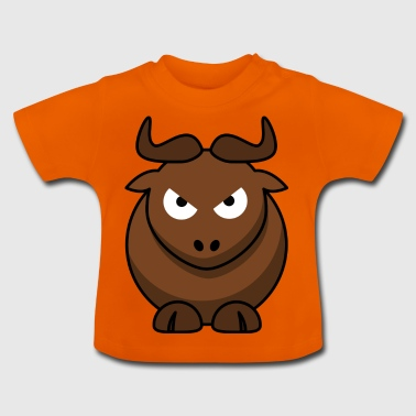 Sweet bull with horns evil eye offensive - Baby T-Shirt