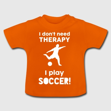 Football Sports Therapy grappige zeggen gift - Baby T-shirt