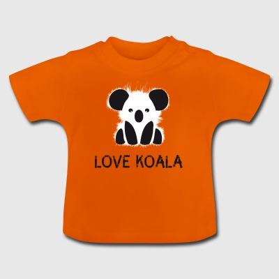 Koala animal cute bear fur cuddly australia l - Baby T-Shirt