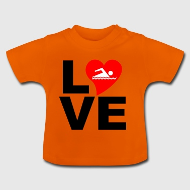 LOVE Swimming - Baby T-Shirt