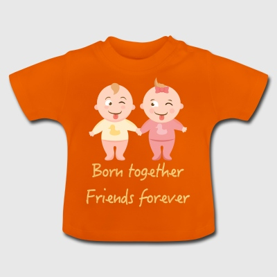 Twins boy and girl, twins boy and girl - Baby T-Shirt