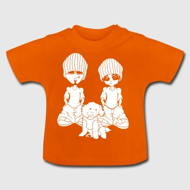Doggycouple wite - Baby T-Shirt