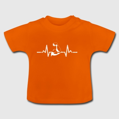 Heartbeat from the sportsman bodybuilder - Baby T-Shirt