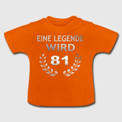 A legend becomes 81 - Baby T-Shirt