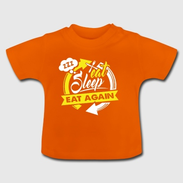 Eat Sleep BBQ Barbecue BBQ Gift - Baby T-Shirt