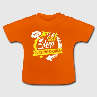 EAT SLEEP jouer de la batterie - T-shirt Bébé