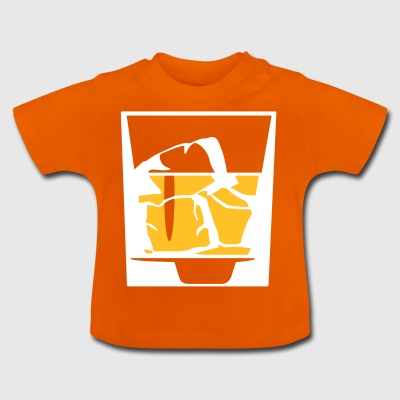 Tumbler Of Whiskey And Ice Cubes - Baby-T-shirt