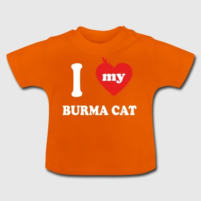 amo gatos gordos CAT BIRMANIA - Camiseta bebé