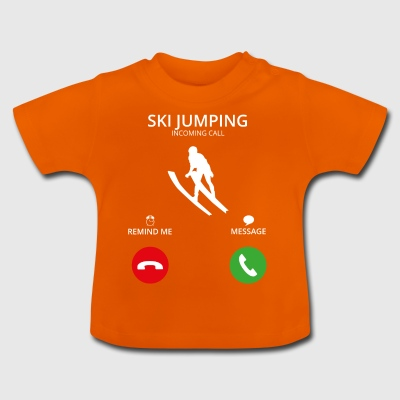 Ring Mobile Call skihopping - Baby-T-skjorte