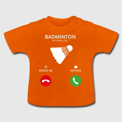 Ring Mobile Call badminton - Baby-T-skjorte