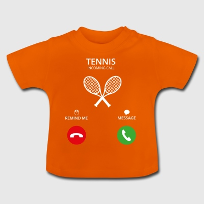 Ring Mobile Call tennisspiller - Baby-T-skjorte