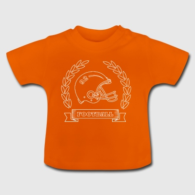 American Football Helmet Rugby Football Quarterback - Baby T-Shirt