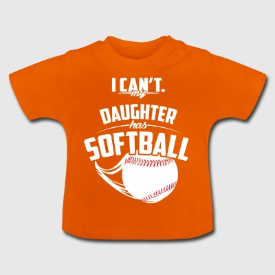 Ma fille a Softball - T-shirt Bébé