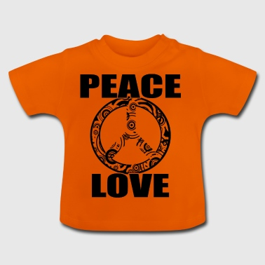 Peace Love T-paita Peace and Love Peace Sign - Vauvan t-paita