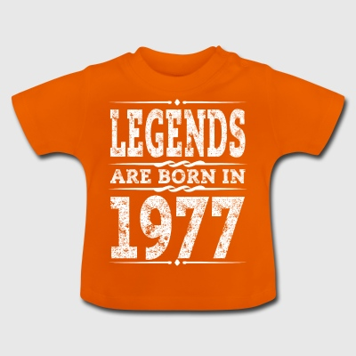 legends are born in 1977 - Baby T-Shirt