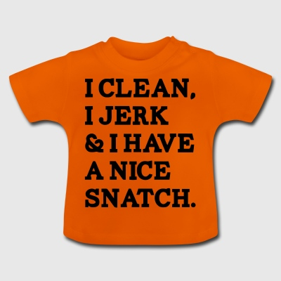 I clean, I depp funny sayings - Baby T-Shirt