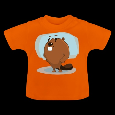 beaver biber rodent rodents wood water5 - Baby T-Shirt