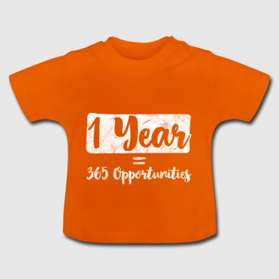 Motivation spell - 1 år 365 optioner - Baby-T-shirt
