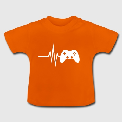 My heart beats for gaming - multiplayer esport - Baby T-Shirt