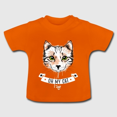 Oh my cat cat tiger face cute baby lol - Baby T-Shirt
