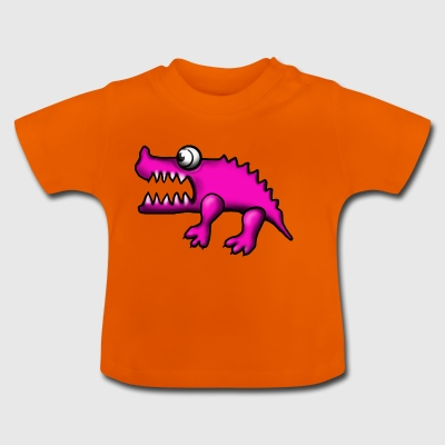 crocodile rose - T-shirt Bébé
