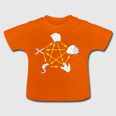 Rock Paper Scissors ödla Spock - Baby-T-shirt