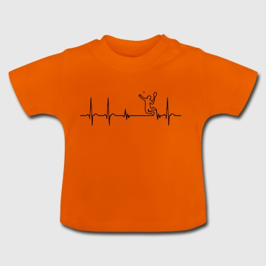 Heart beat badminton player fun cool gift - Baby T-Shirt