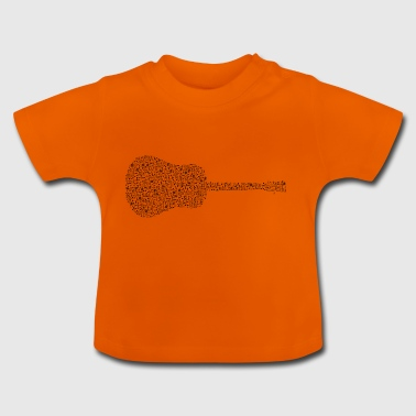 Guitar made of notes - Baby T-Shirt