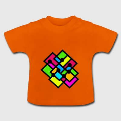 moderne Patchwork - Baby T-Shirt