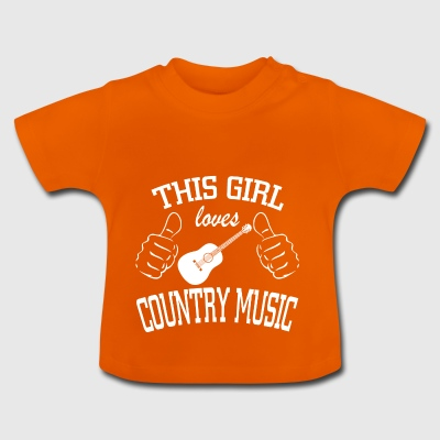 this girl loves country music - Baby T-Shirt