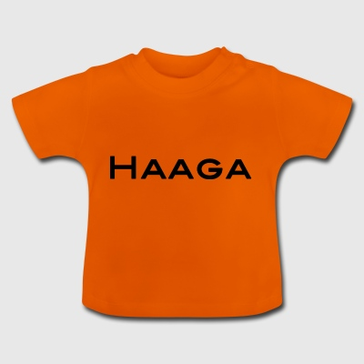 Haaga black text and capital letters - Baby T-Shirt